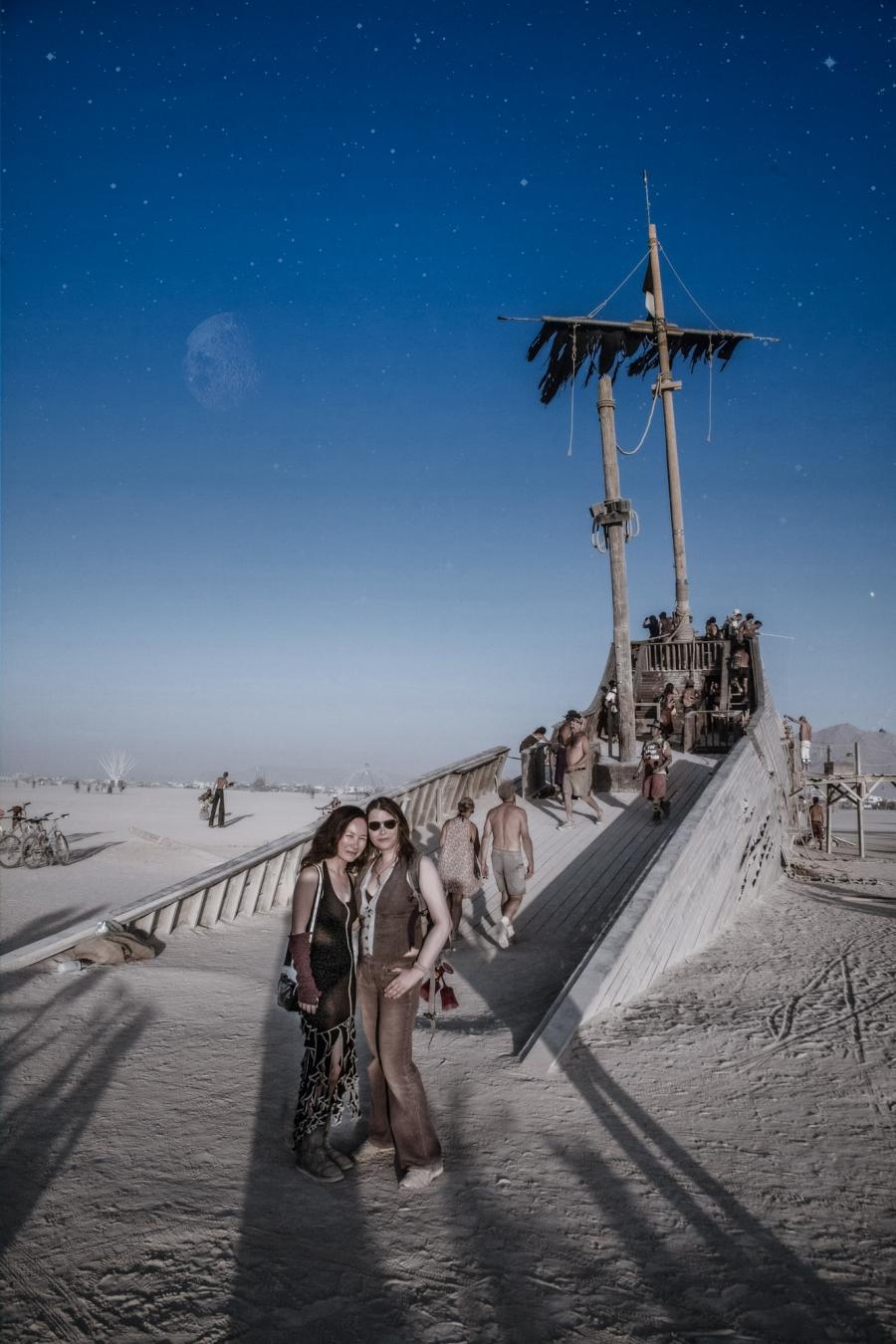 Portrait at Pier 2 - The Derelict, Burning Man 2012